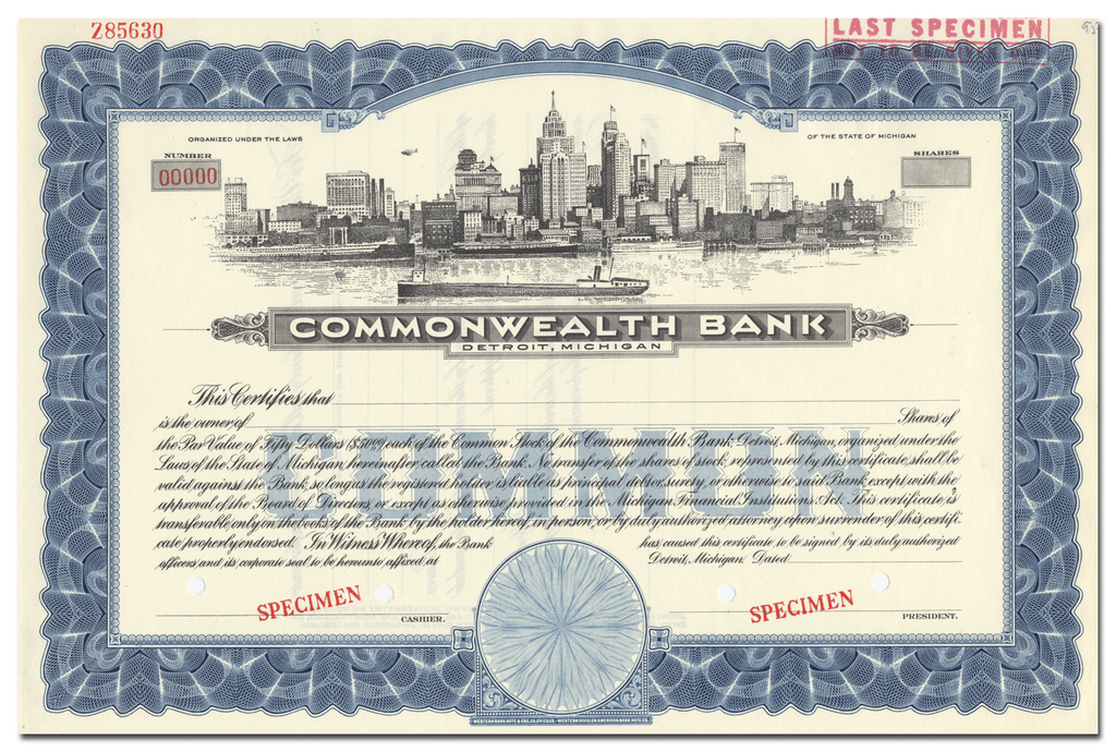Commonwealth Bank Stock Certificate
