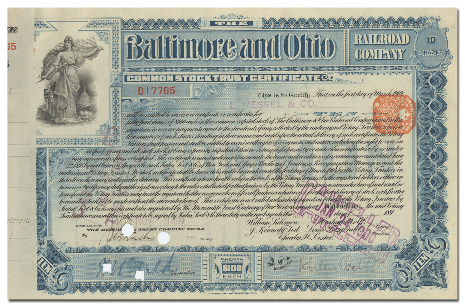 Chicago Great Western Railroad Company Stock Certificate
