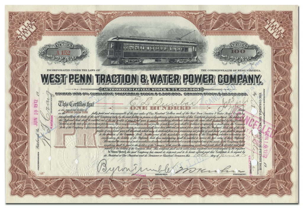 West Penn Traction & Water Power Company