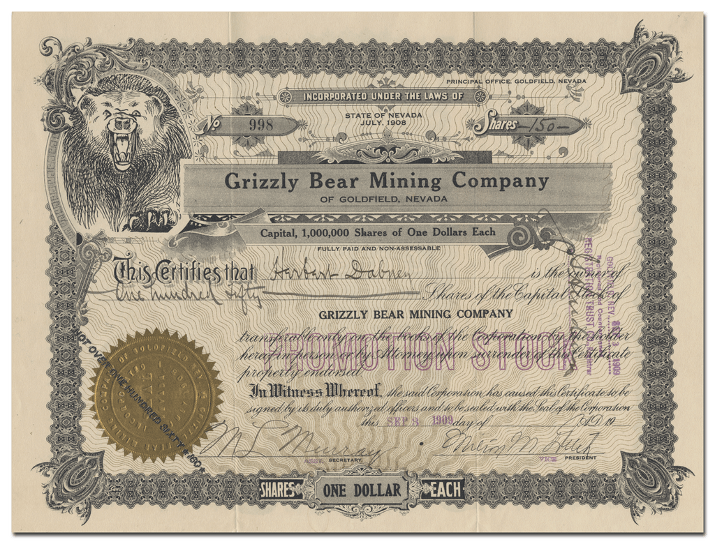 Grizzly Bear Mining Company