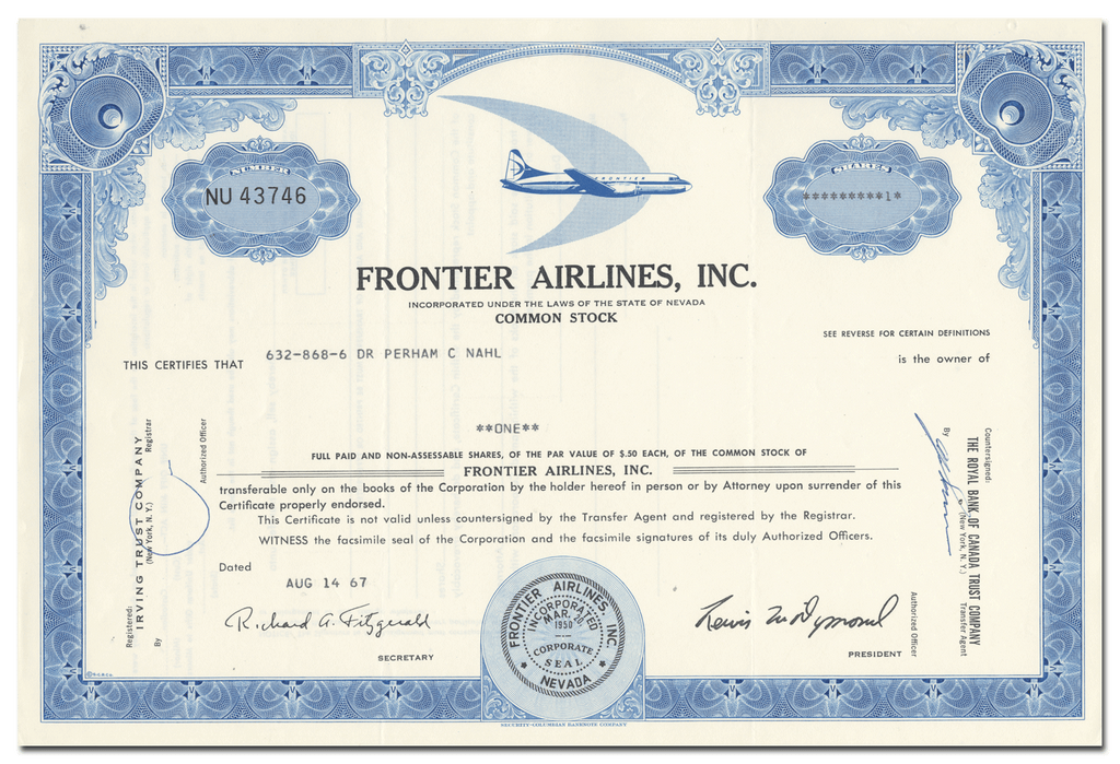 Frontier Airlines, Inc.
