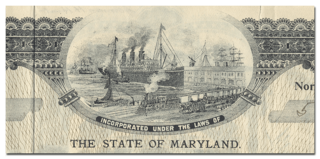 Maryland Storage Company Stock Certificate