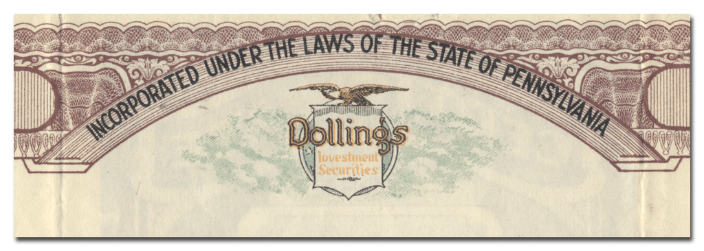 R. L. Dollings Company Stock Certificate