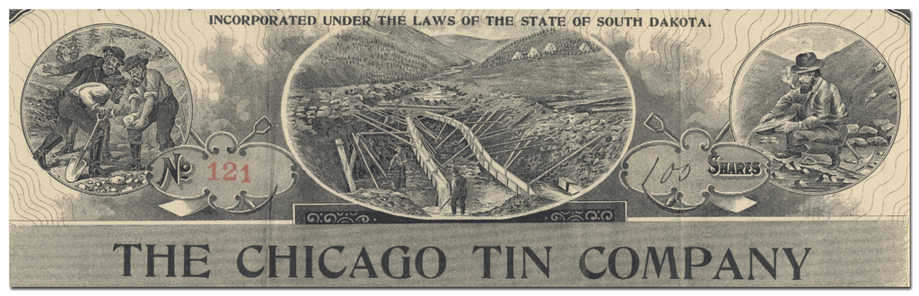 Chicago Tin Company Stock Certificate