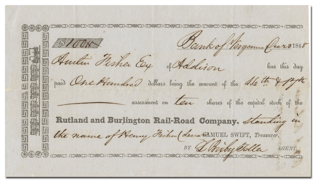 Rutland and Burlington Rail-Road Company (1848)