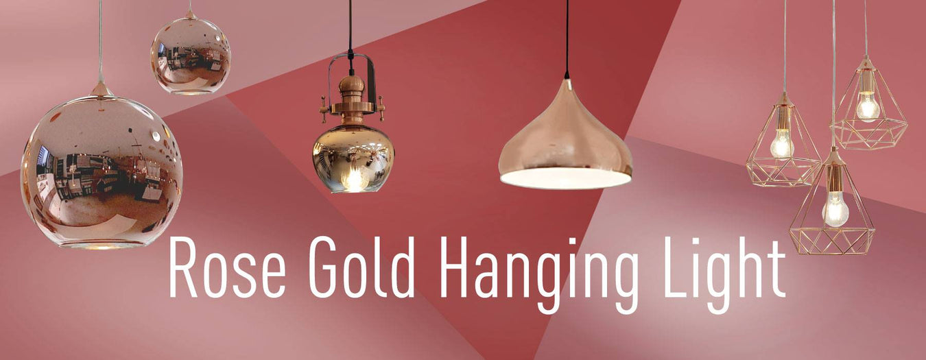 Rosegold Hanging Lights