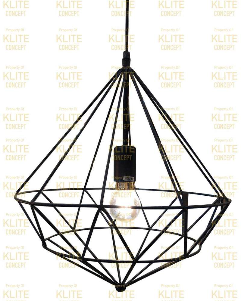 Caged Hanging Light