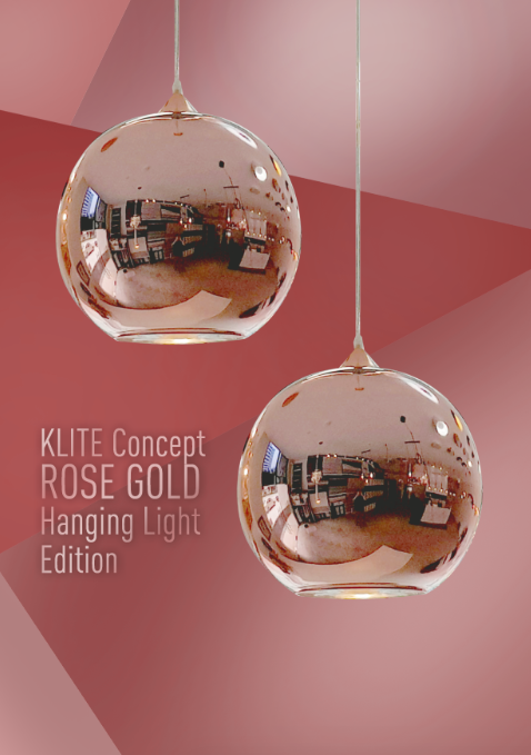 Rosegold Ball Hanging Light