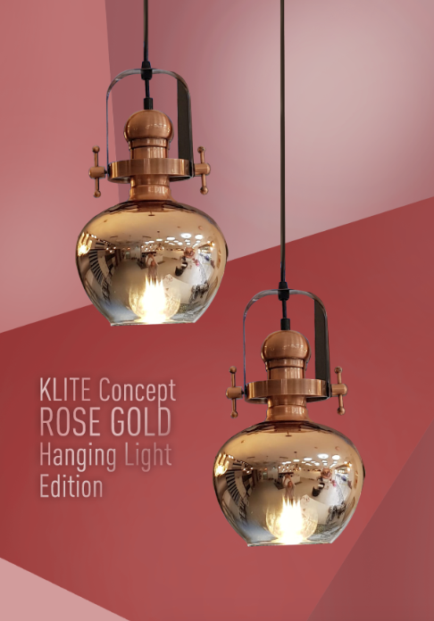 Rustic Rosegold Hanging Light