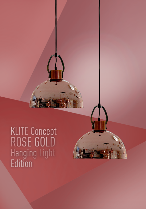 Semi Rosegold Hanging Light