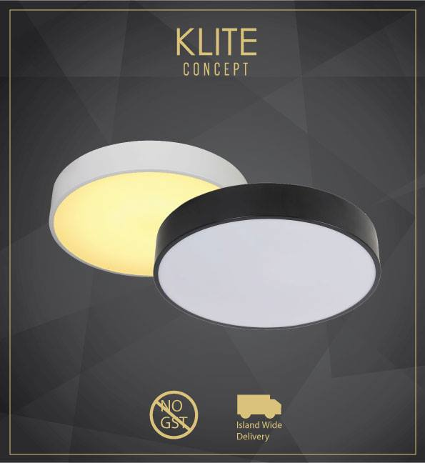 Modern Black Or White Round Ceiling Light