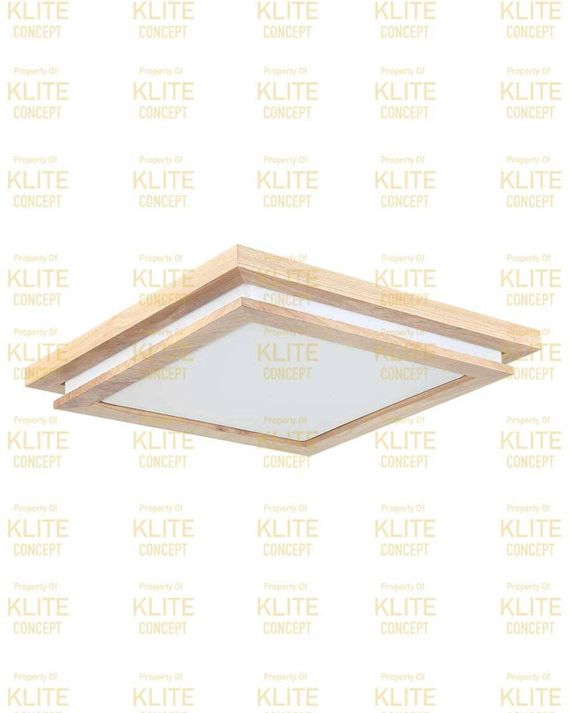 Scandinavian Double Square LED Ceiling Light