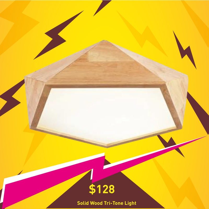 Solid Wood Ceiling Light