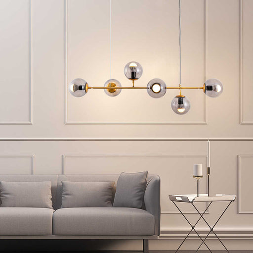 Glass Ball Collinear Pendant Light