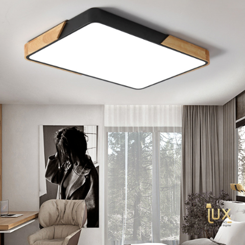 Macaroon Rectangle Ceiling Light in Black