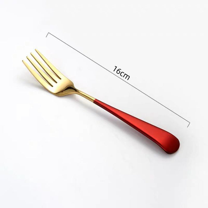 Pastel Stainless Steel Gold Fork
