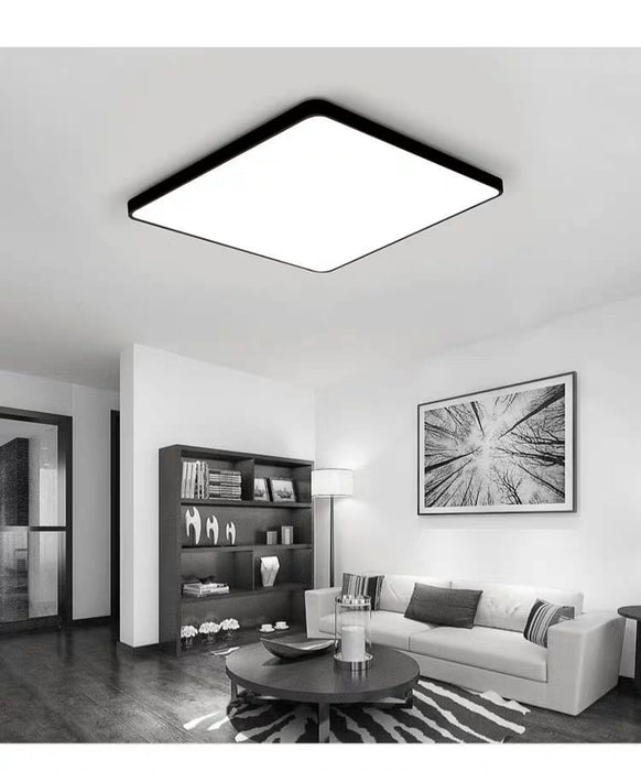 Black LED Square Ceiling Light