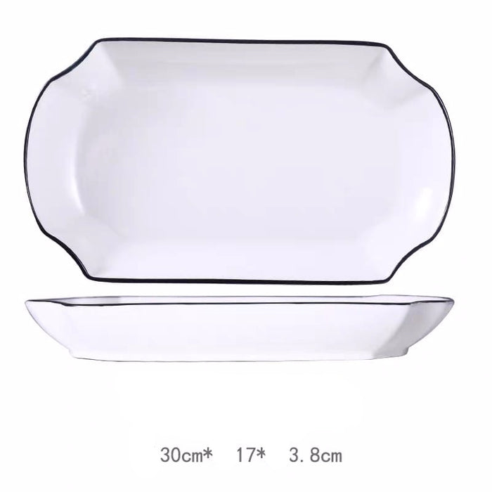 Black Rim Glass Tableware