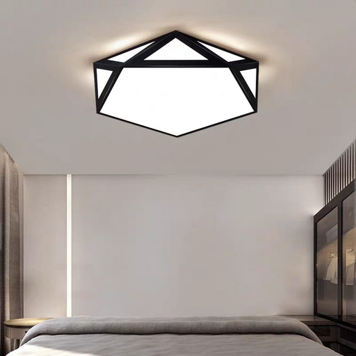 Pentagon Criss Cross Ceiling Light