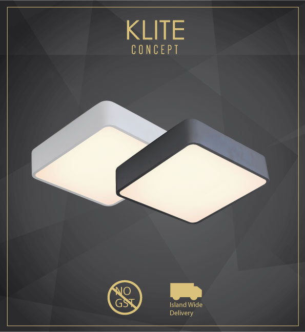Modern Black or White Square Ceiling Light