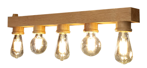 Solid Wood Hanging Light with 5 bulb Holder