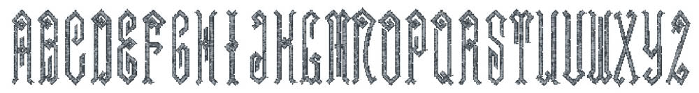 Castle embroidery font