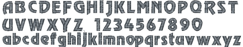 Chisel embroidery font