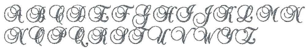Feather embroidery font