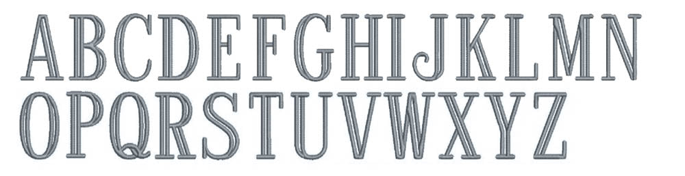 Williamsburg embroidery font