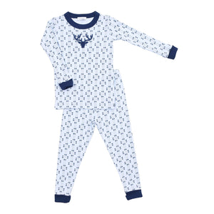 Magnolia Baby My First Buck Applique Long Sleeve PJs