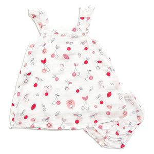 Angel Dear Cherry-O Sundress and Bloomers