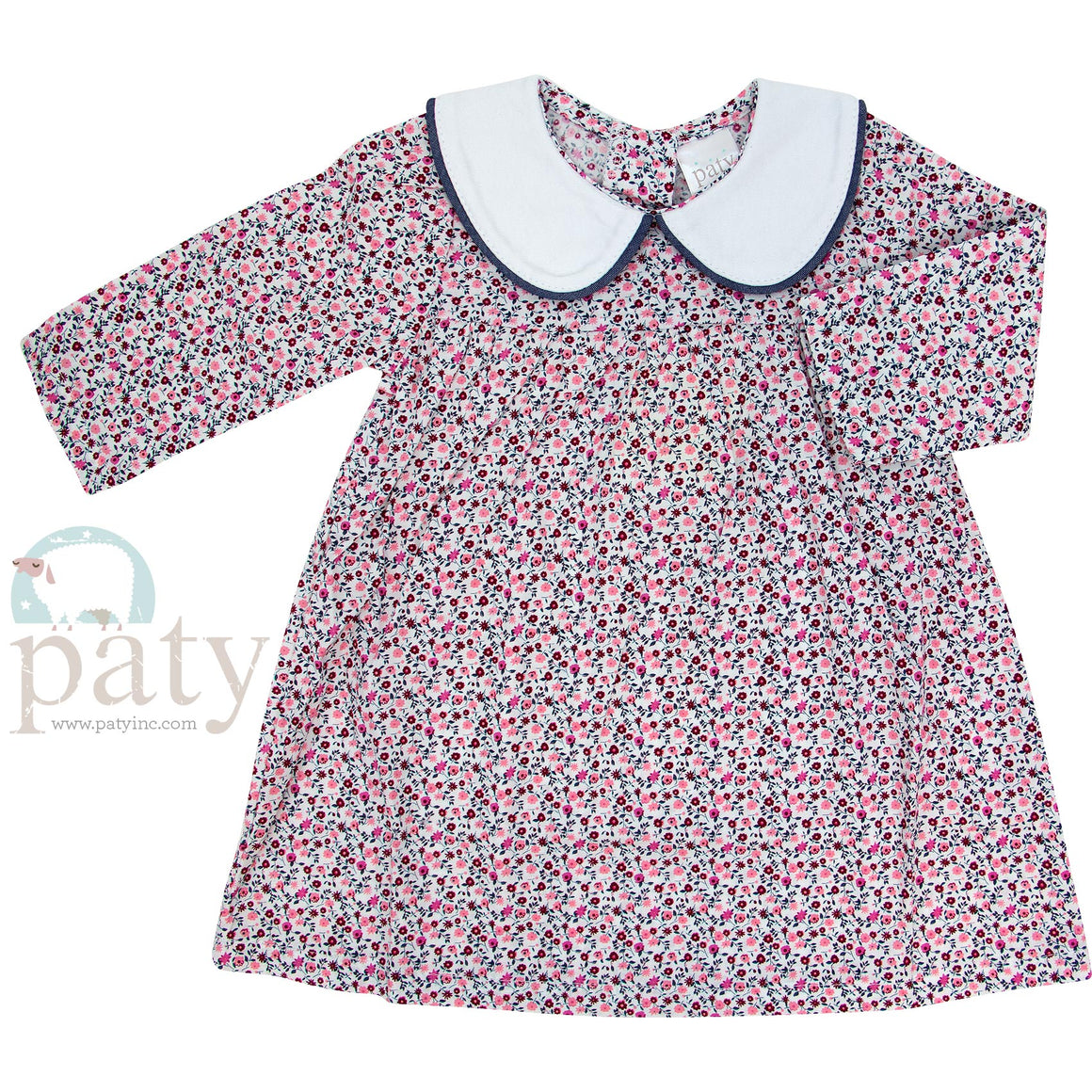 Paty Floral Dress with Collar