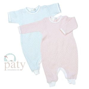 Paty LS Romper with Key Hole Back