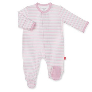 Magnetic Me Pink Stripe Globetrotter Footie