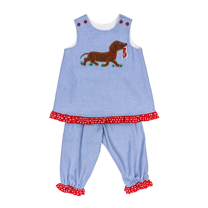 Bailey Boys Angel Dress With Bloomer Set