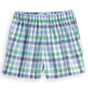 Bella Bliss Boy's Play Shorts - Seafarer Check