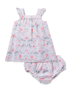 Angel Dear Bunny Damask Sundress & Bloomers