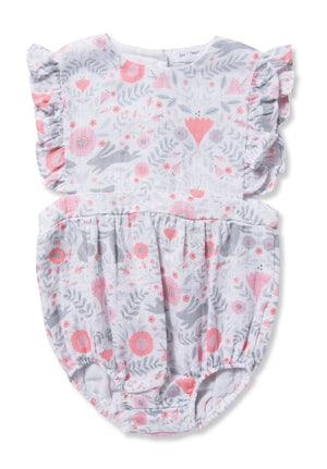Angel Dear Bunny Damask Sunsuit
