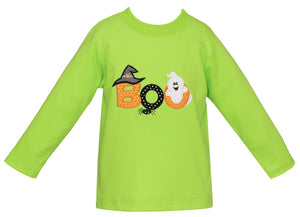 Claire & Charlie Halloween Applique Shirt