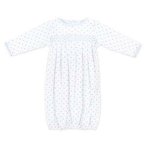 Magnolia Baby Gingham Dots Smocked Gown