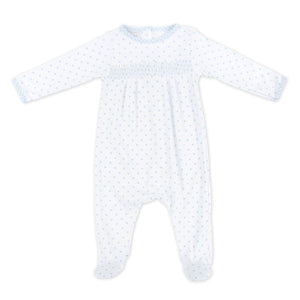 Magnolia Baby Gingham Dots Smocked Footie