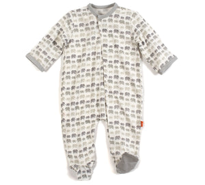 Magnetic Me Gray Dancing Elephants Footie