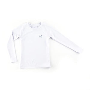 Prodoh White Long Sleeve Rash Guard Shirt