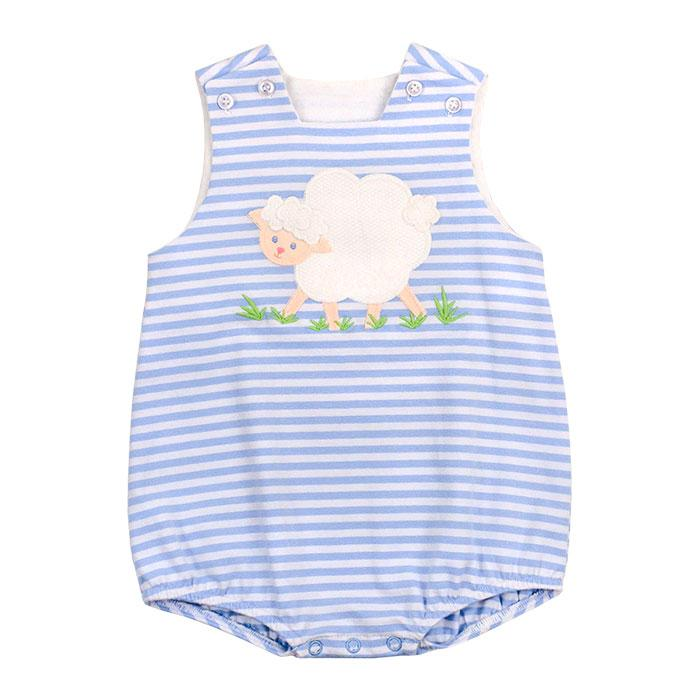 Bailey Boys Lovey Lamb Knit Infant Bubble