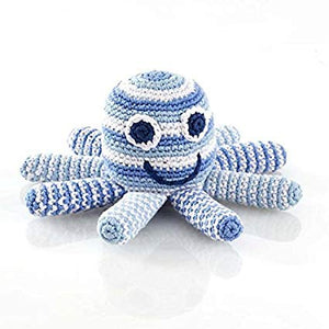 Octopus Rattle - Pale Blue