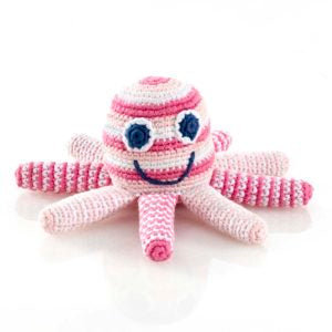 Octopus Rattle - Pale Pink
