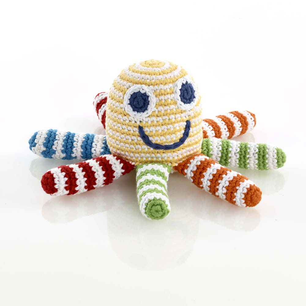 Octopus Rattle - Rainbow