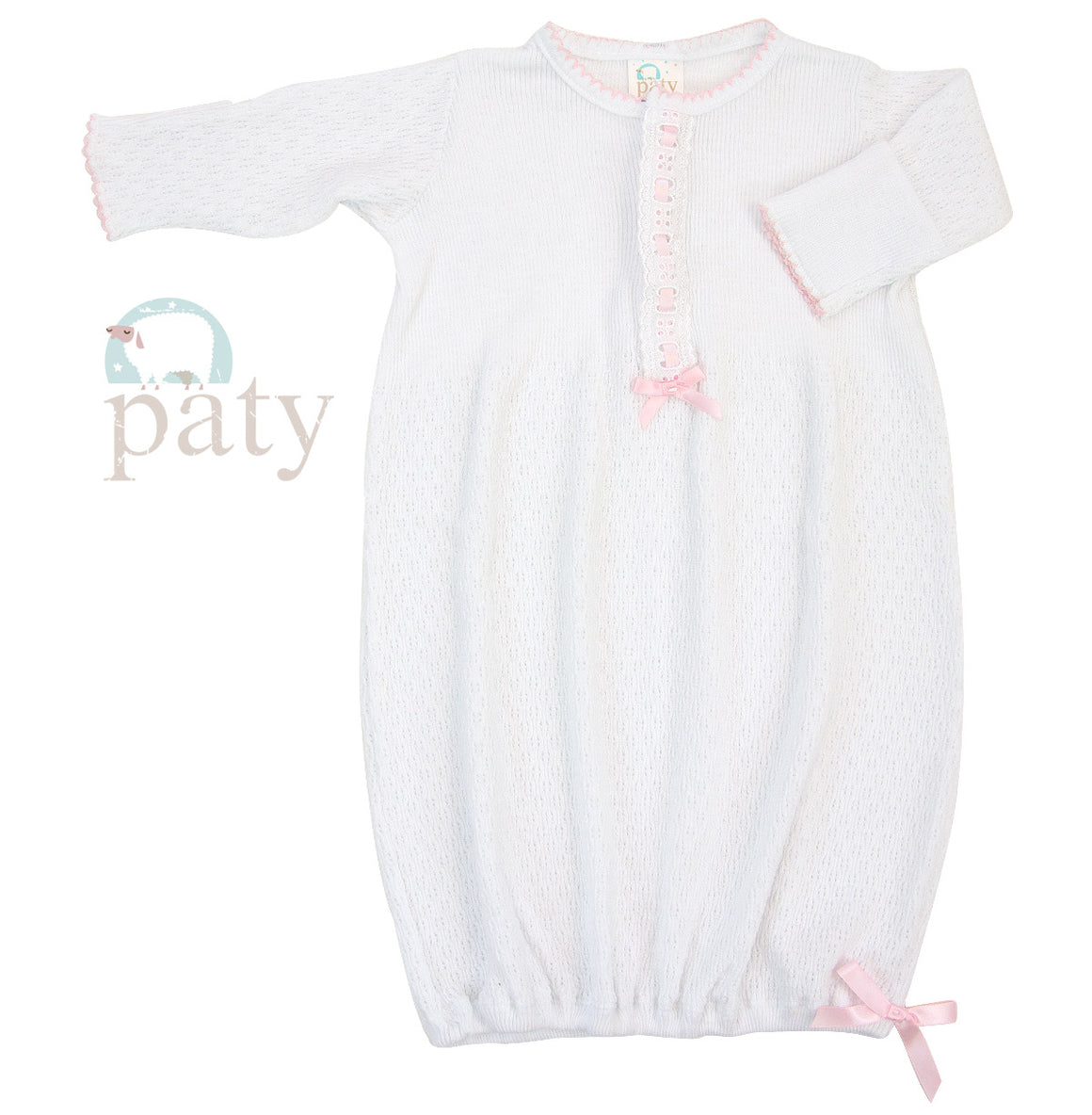 Paty LS Gown with Eyelet Trim