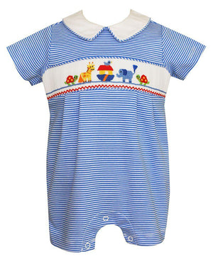Petit Bebe Pima Cotton Smocked Noahs Ark Bubble