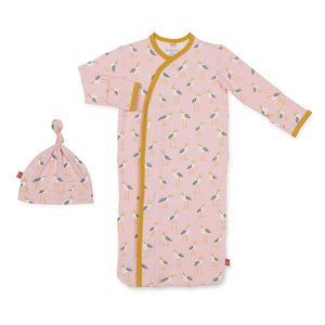 Magnetic Me Pink Plovers Sack Gown and Hat